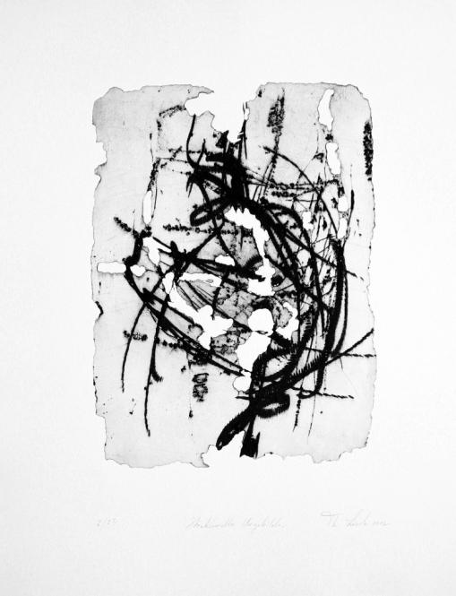 Strukturelles Urgebilde, Radierung, Ätzung / Prägedruck, 43,5 x 53 cm, 2012