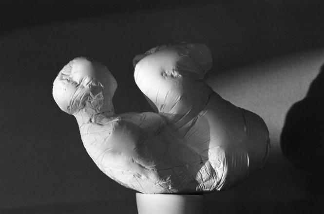 Liegende, Gips, L. 21 cm, 2007