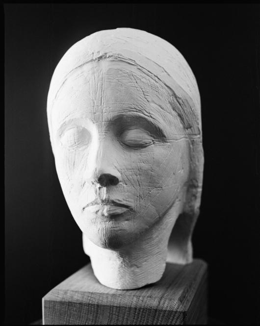 Marienkopf, Gips, H. 25 cm, 2012