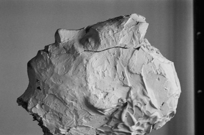 Bildnisstudie B, Gips, L. 28 cm, 2010