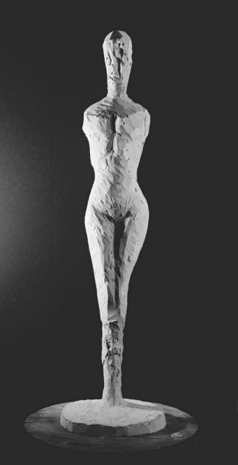 Wesenhafte Figuration, Gips, H. 95 cm, 2013